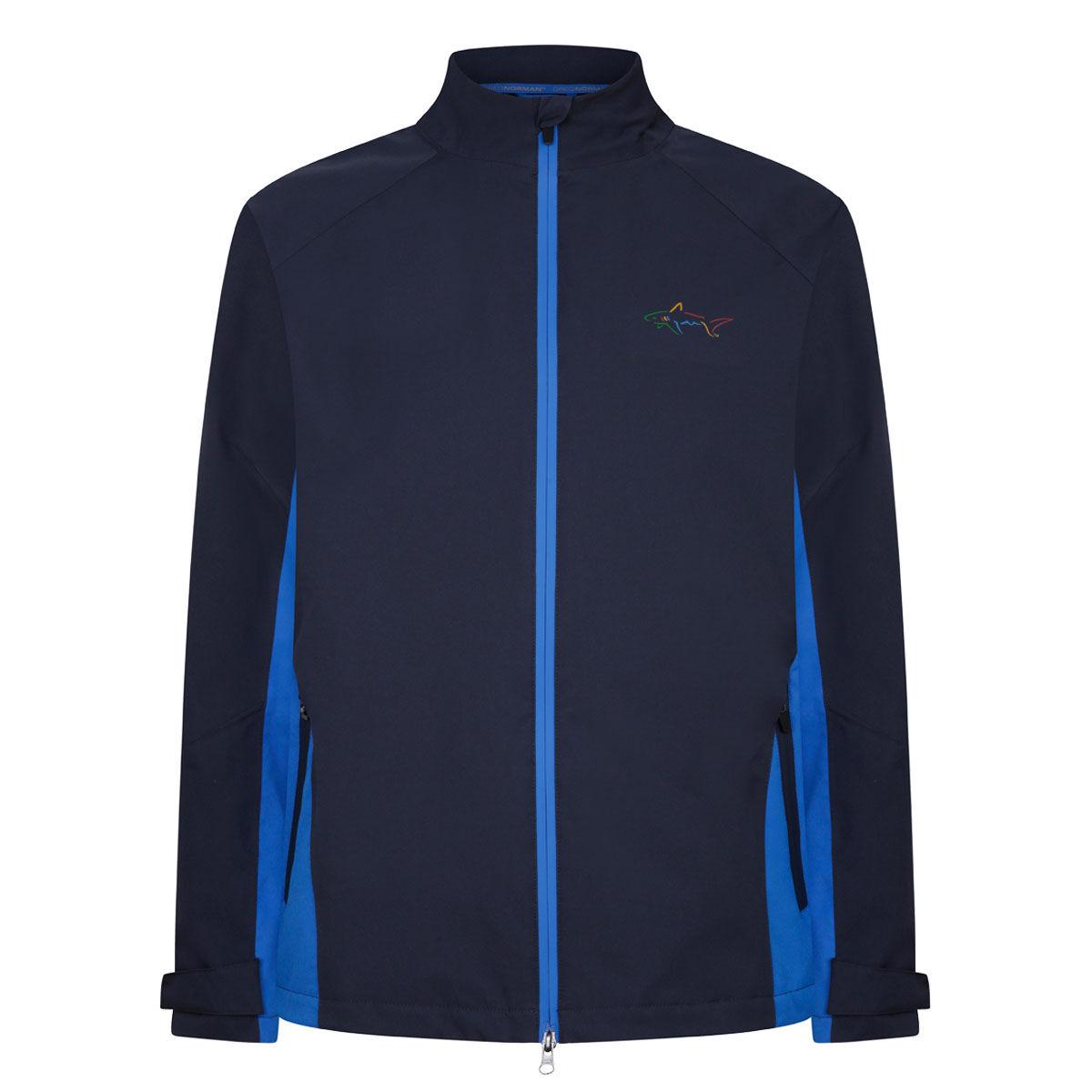 Greg Norman Dorsal Waterproof Golf Jacket, Mens, Navy/blue, Large   American Golf