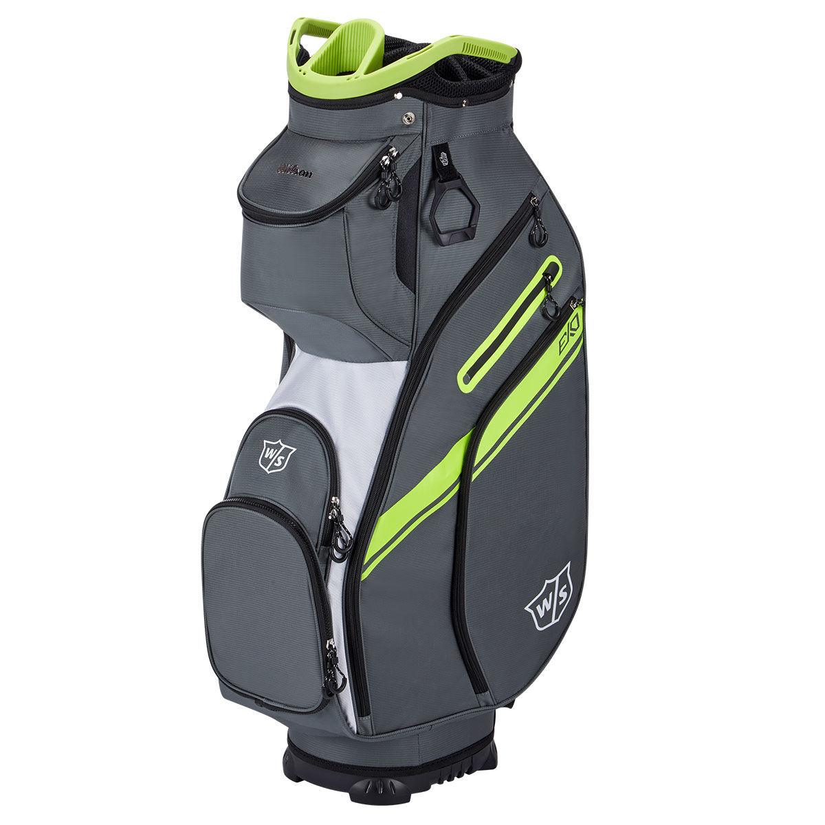 Wilson Staff EXO II Golf Cart Bag, Charcoal/white | American Golf