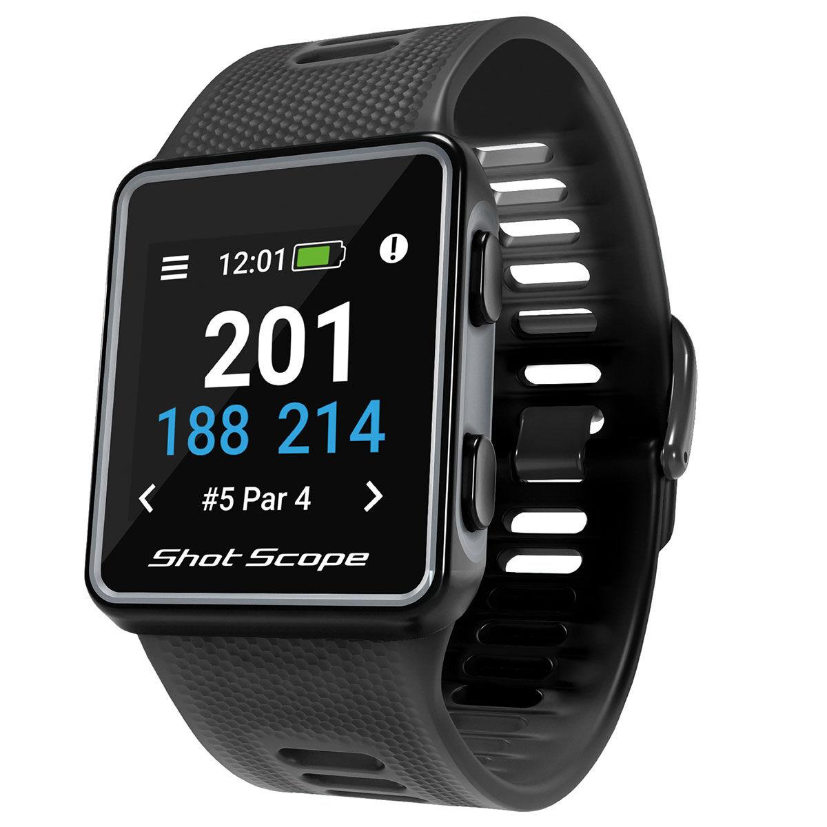 Shot Scope Black G3 Golf GPS Watch, Size: 42x32x10mm   American Golf   American Golf