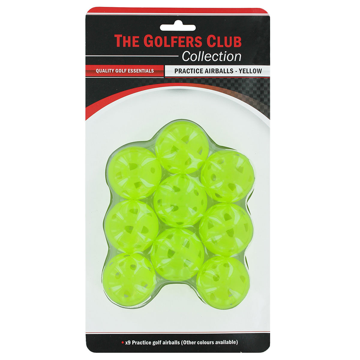 The Golfers Club Mens Yellow Practice Air Flow Golf Balls, One Size | American Golf