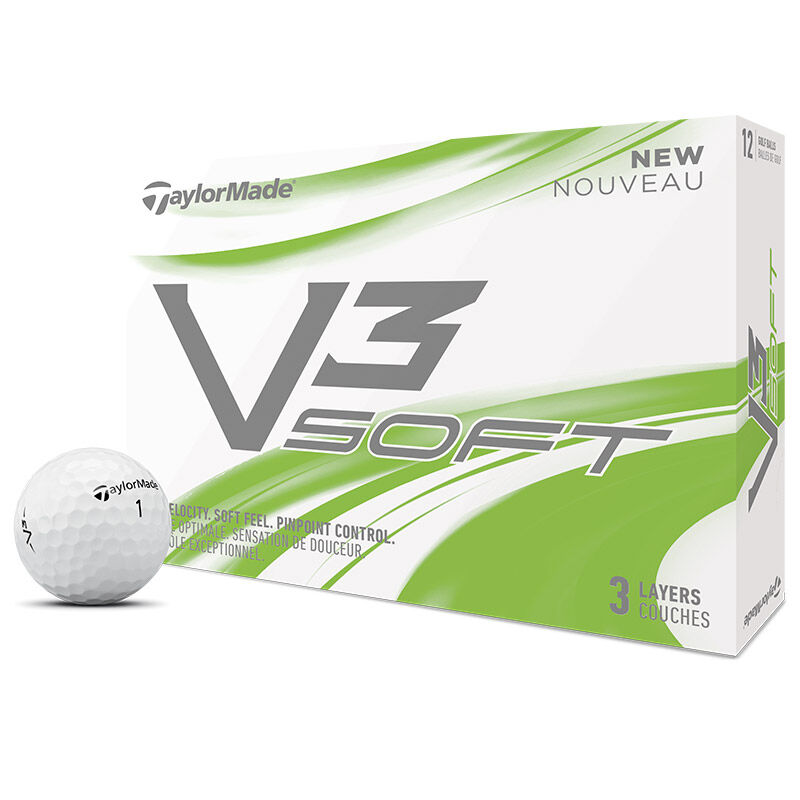 TaylorMade V3 Soft 12 Ball Pack Male White