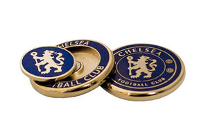 Premier Licensing Chelsea Duo Ball Marker Show off your tram colours on the greens!