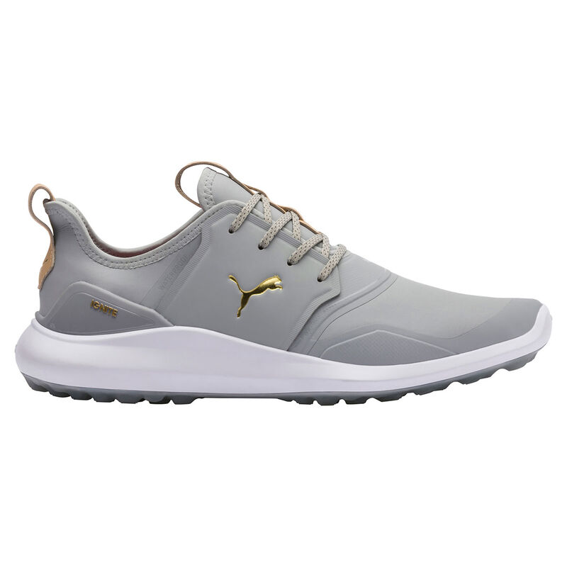 PUMA Golf IGNITE NXT Pro Shoes Male Gray VioletTeam GoldWhite 8