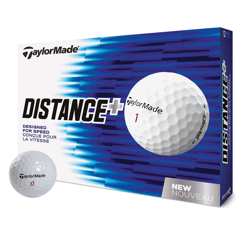 TaylorMade Distance Plus 12 Ball Pack Male White