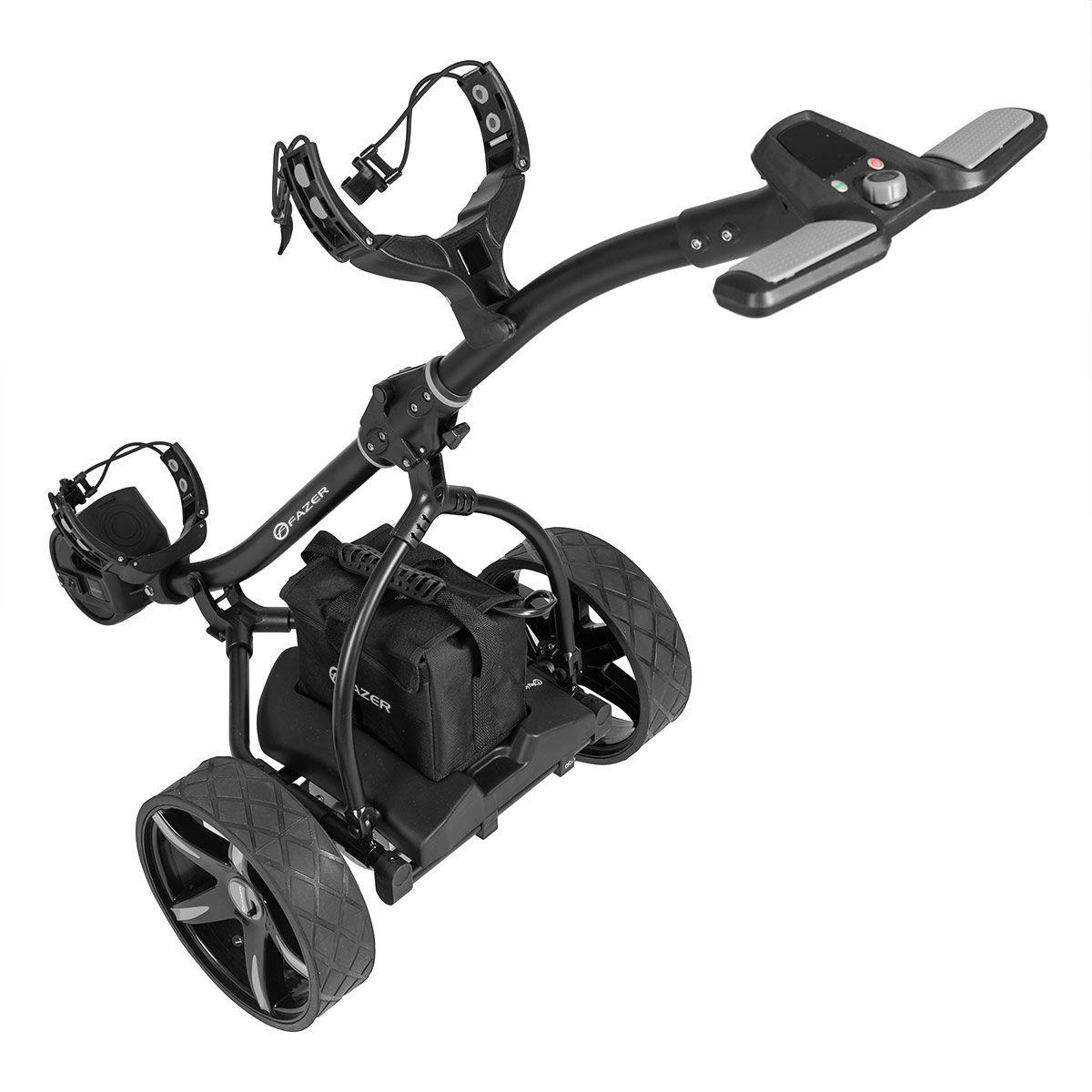 Fazer Black 18 Hole Electric Golf Trolley, Size: 107x56x101cm | American Golf | American Golf
