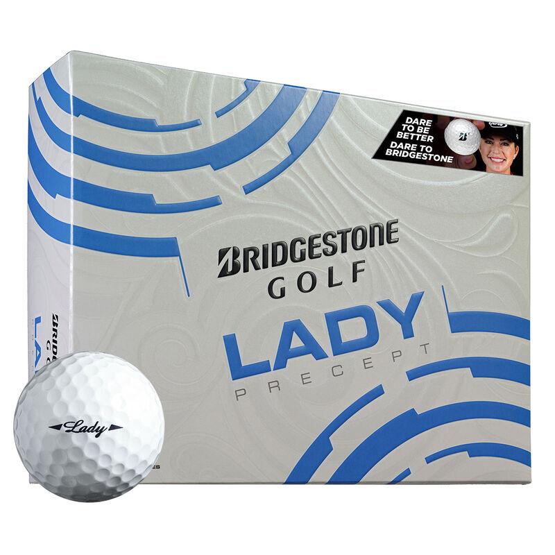Bridgestone Golf Lady Precept 12 Ball Pack Female White