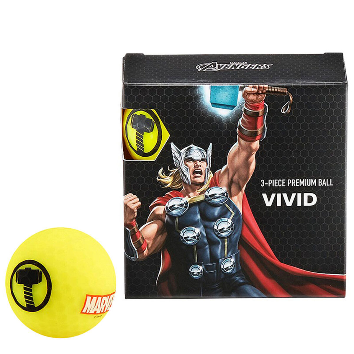 Volvik Marvel 4 Ball Pack, Male, Thor, One Size   American Golf