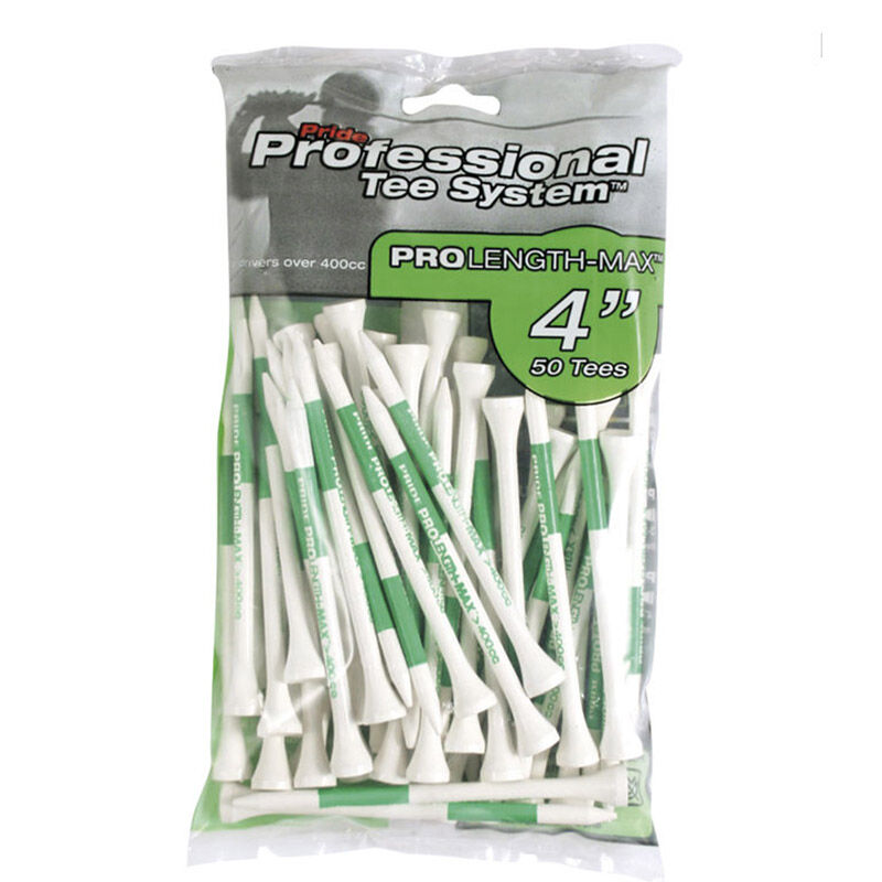Pride Professional 4 Inch Tees 50 Pack Male Green