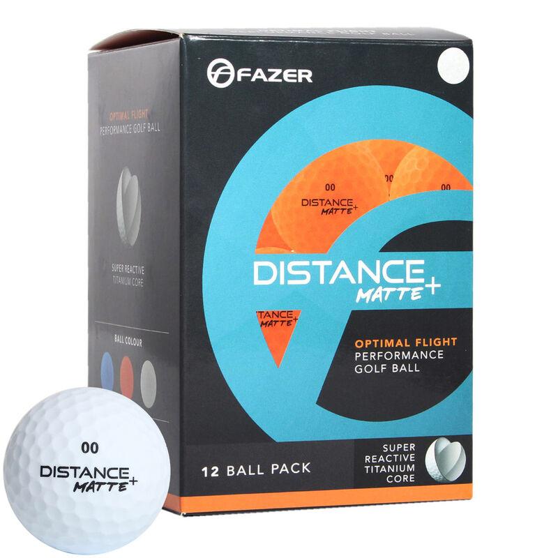 Fazer Distance Matte 12 Golf Balls Male White