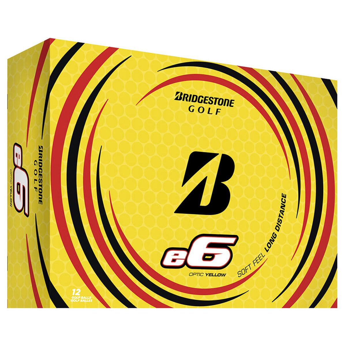 Bridgestone Golf e6 12 Ball Pack, Male, Yellow | American Golf