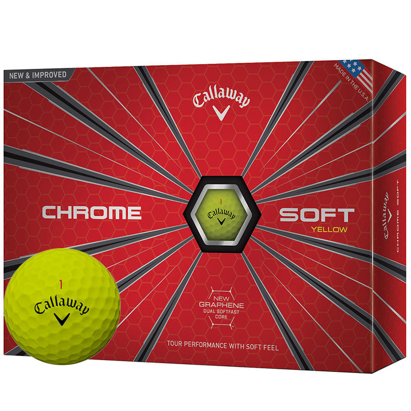 Callaway Golf Chrome Soft 12 Ball Pack Male Yellow