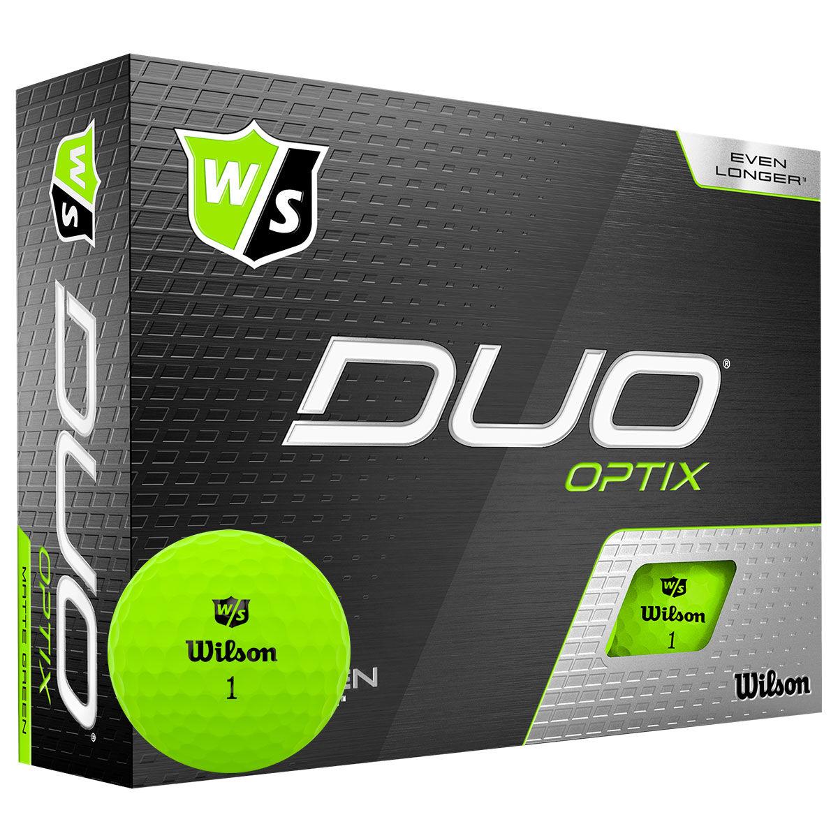 Wilson Staff Green DUO Optix Pack of 12 Golf Balls, One Size | American Golf