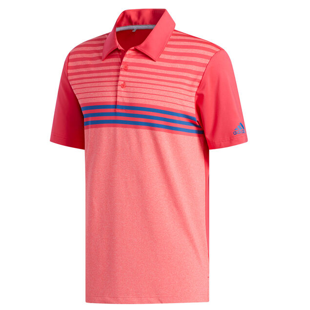 fbdfba70 adidas Golf Ultimate 365 3-Stripe Heather Polo Shirt from american golf