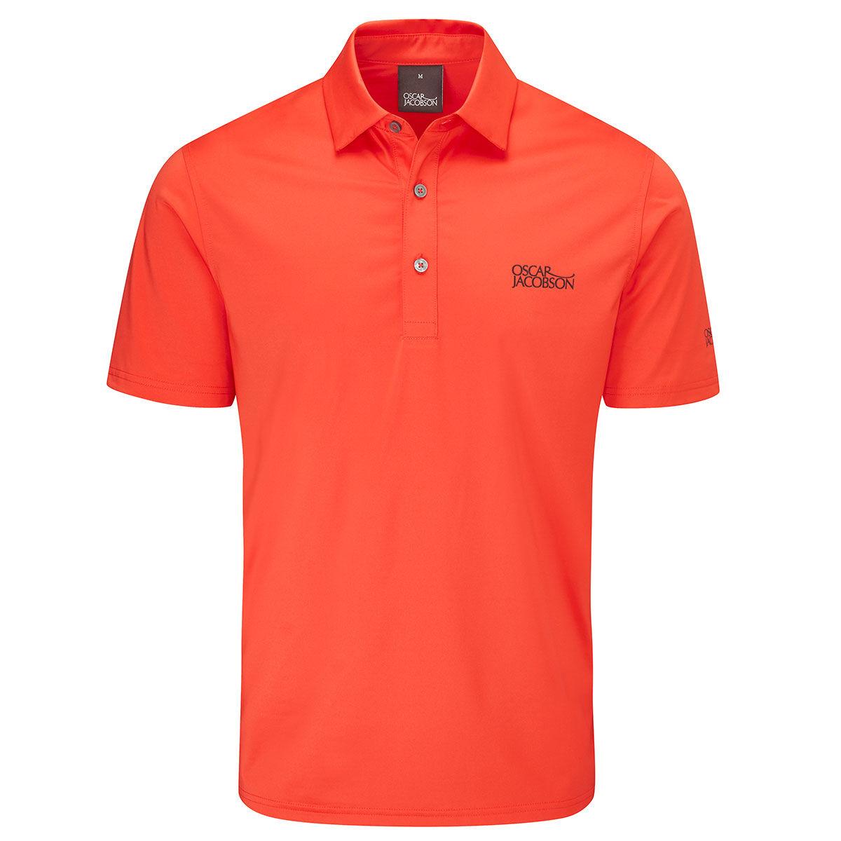 Oscar Jacobson Chap Tour Golf Polo Shirt, Mens, Fiesta, Large | American Golf