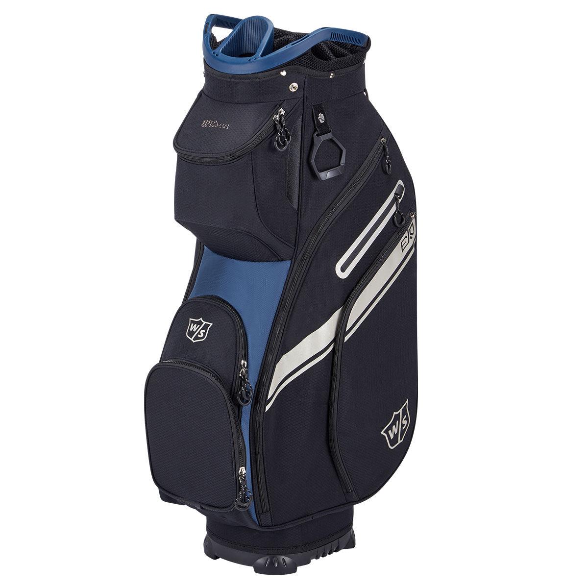 Wilson Staff EXO II Golf Cart Bag, Black/blue, One Size | American Golf