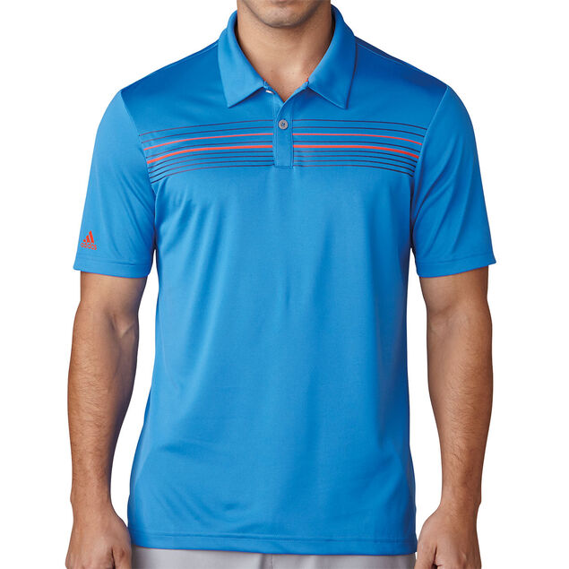 buy online 4e8a3 31094 adidas Golf climacool Chest Print Polo Shirt