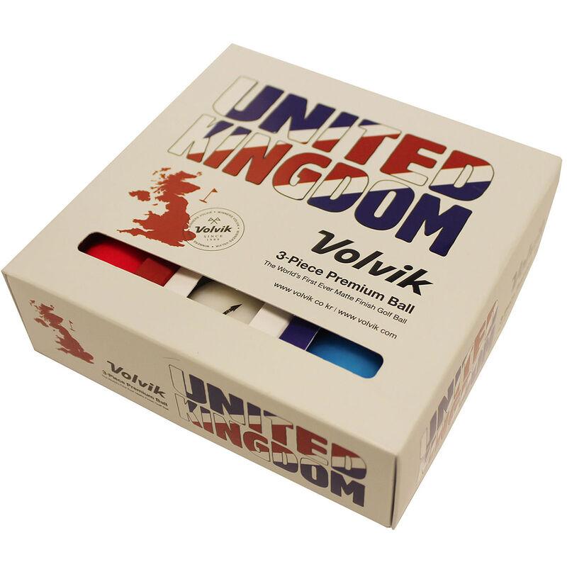 Volvik Vivid United Kingdom Patriot 9 Ball Pack Male RedWhiteBlue