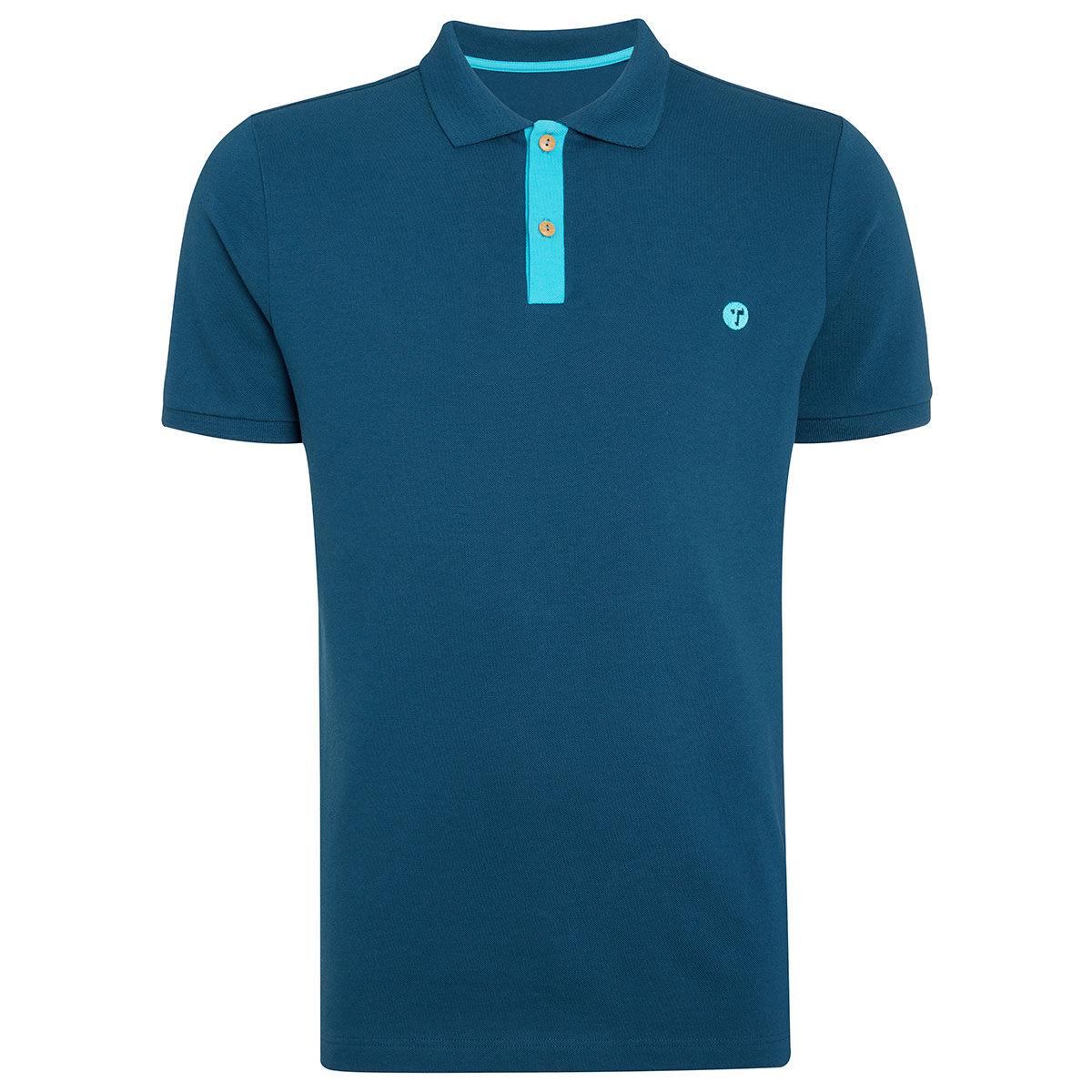 Ocean Tee Mako Golf Polo Shirt, Mens, Navy blue, Medium | American Golf
