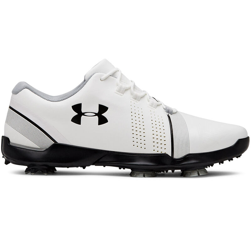 Under Armour Spieth 3 Junior Shoes Unisex WhiteOvercast GrayBlack 3