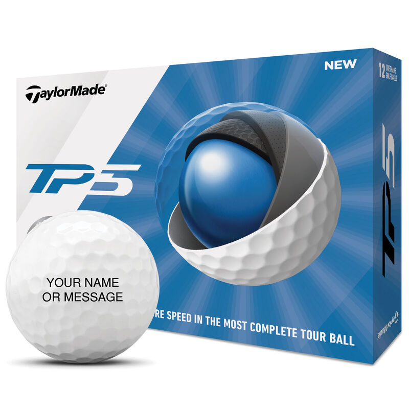 TaylorMade TP5 2019 Personalised 12 Ball Pack Male White Red