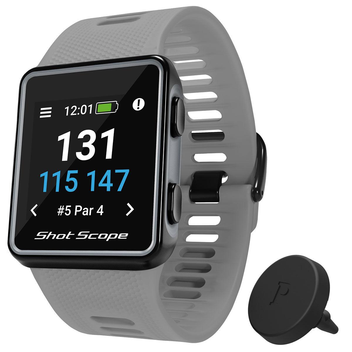 Shot Scope V3 Smart Golf GPS Watch, Male, Grey, 135-210mm   American Golf