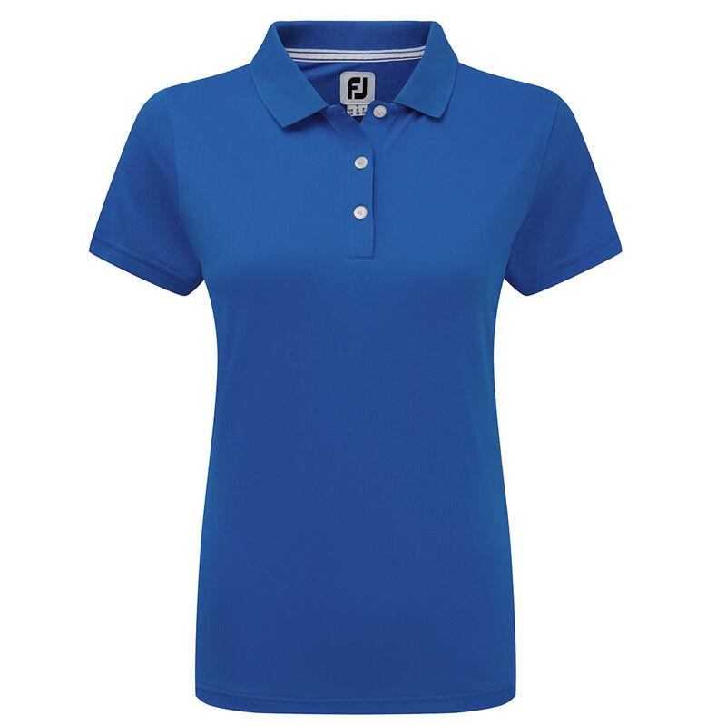 FootJoy Stretch Pique Solid Ladies Polo Shirt Female Royal Small