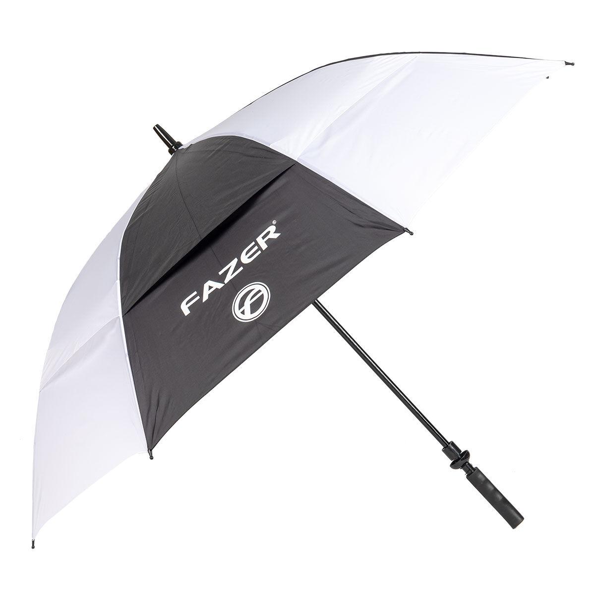 Fazer Black and White Logo Print Dual Canopy Golf Umbrella