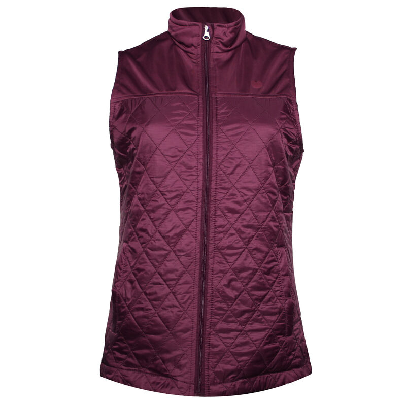 Palm Grove Quilted Ladies Gilet Female Purple 14