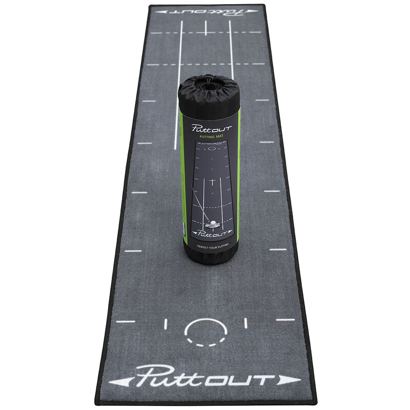 PuttOUT Deluxe Putting Mat Male Grey
