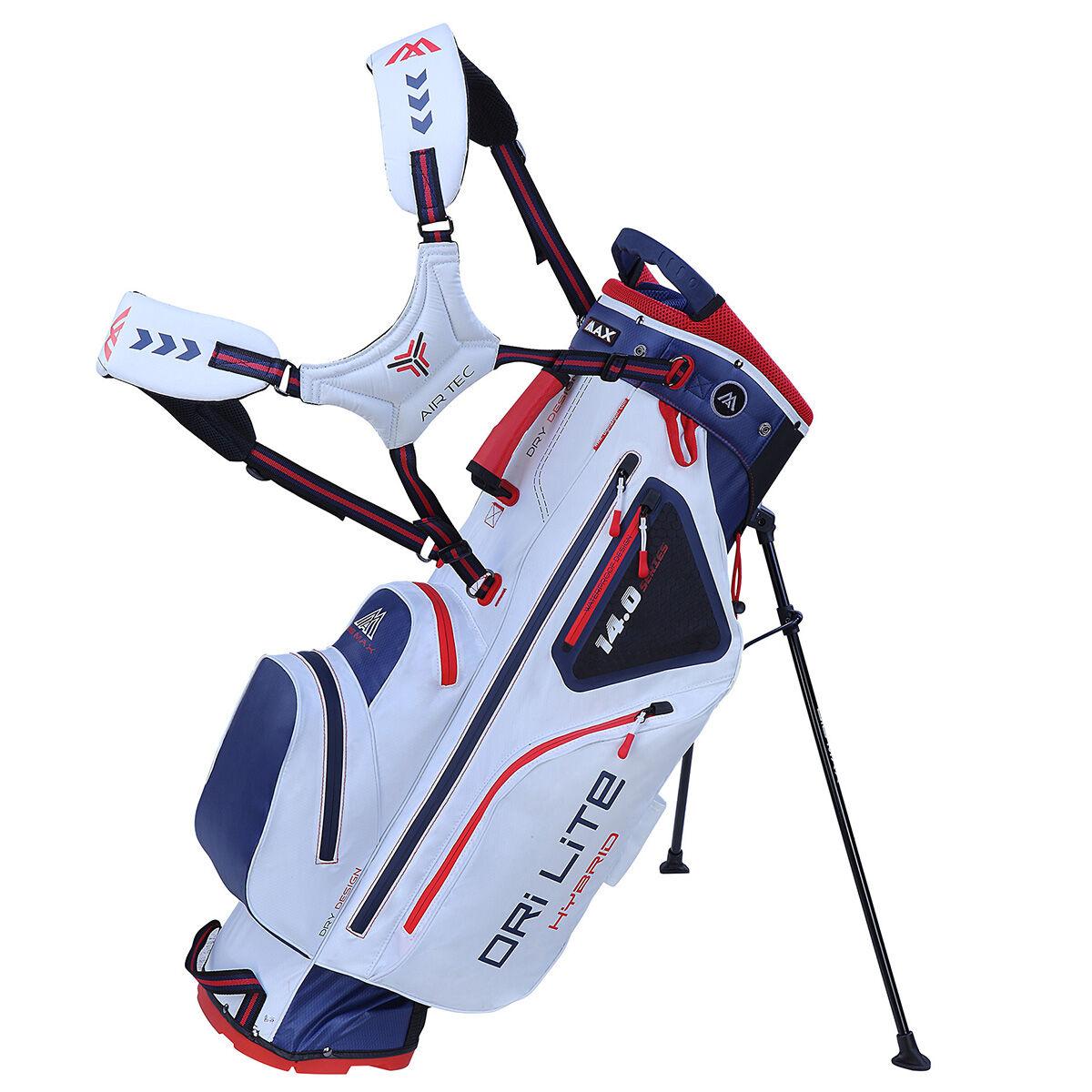 BIG MAX DRI LITE Hybrid Golf Stand Bag, White/navy/red | American Golf