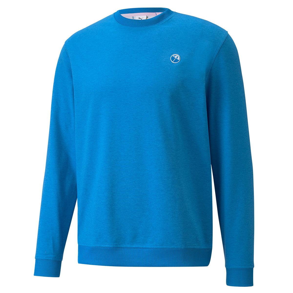 PUMA Golf AP Cloudspun Golf Sweater, Mens, Large, Future blue heather | American Golf