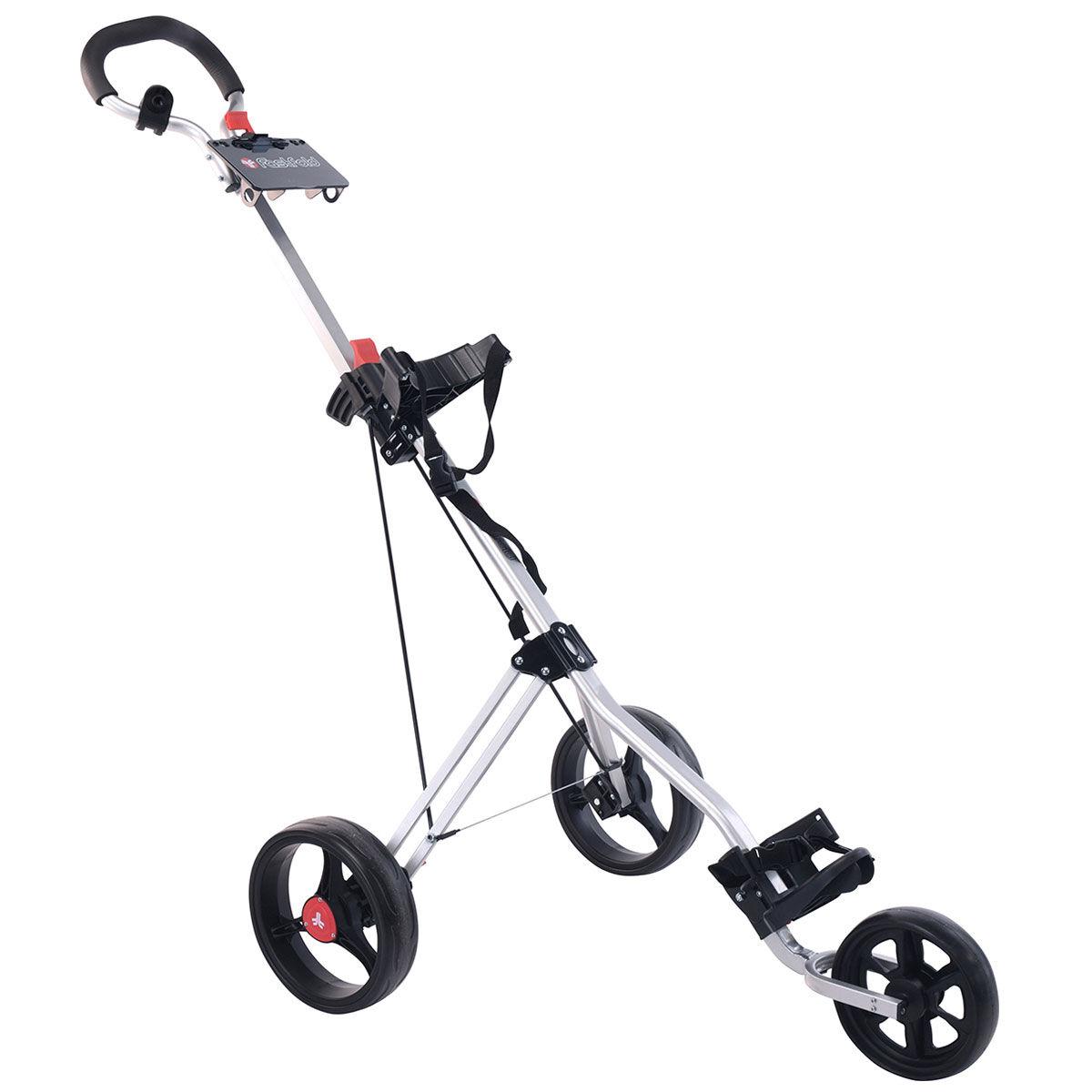 Fast Fold Silver FastFold Force Manual Golf Trolley, Size: One Size | American Golf | American Golf