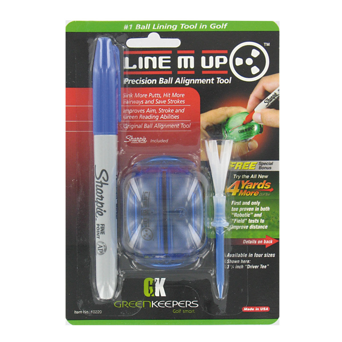 The Golfers Club Line M-Up Ball Marking, Male, One size | American Golf