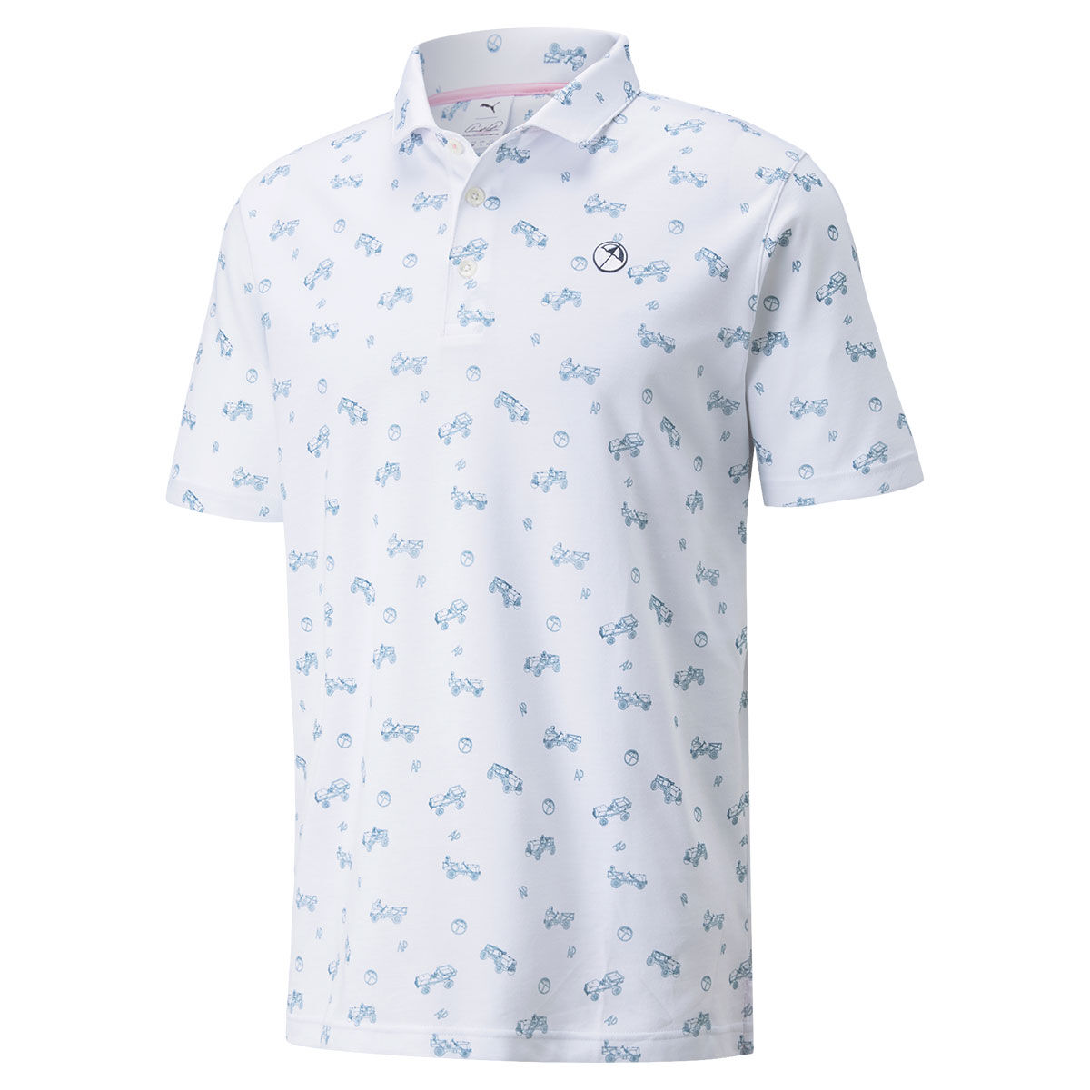 PUMA Golf AP Best Friend Golf Polo Shirt, Mens, Large, Bright white | American Golf