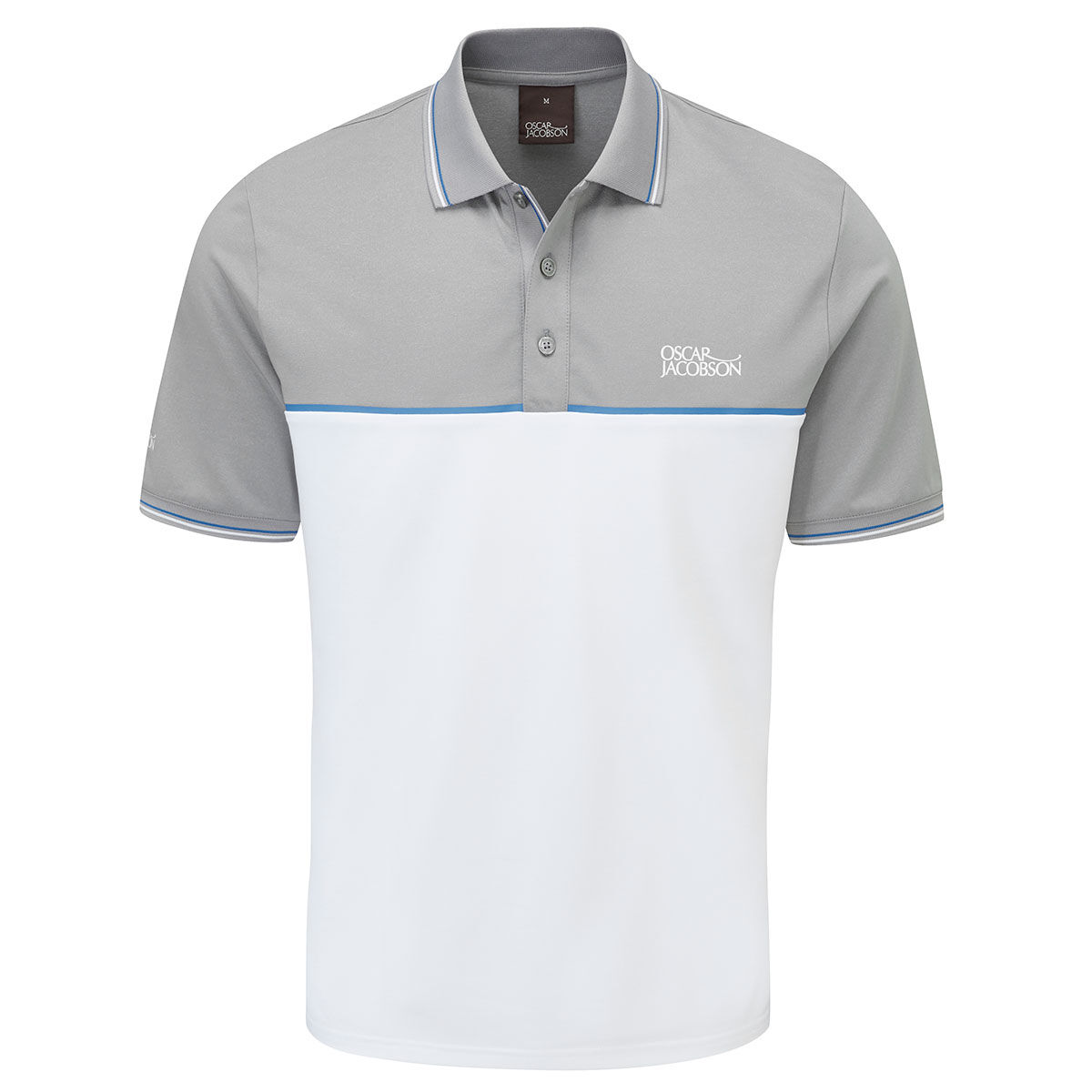 Oscar Jacobson Belford Golf Polo Shirt, Mens, Small, Light grey marl | American Golf