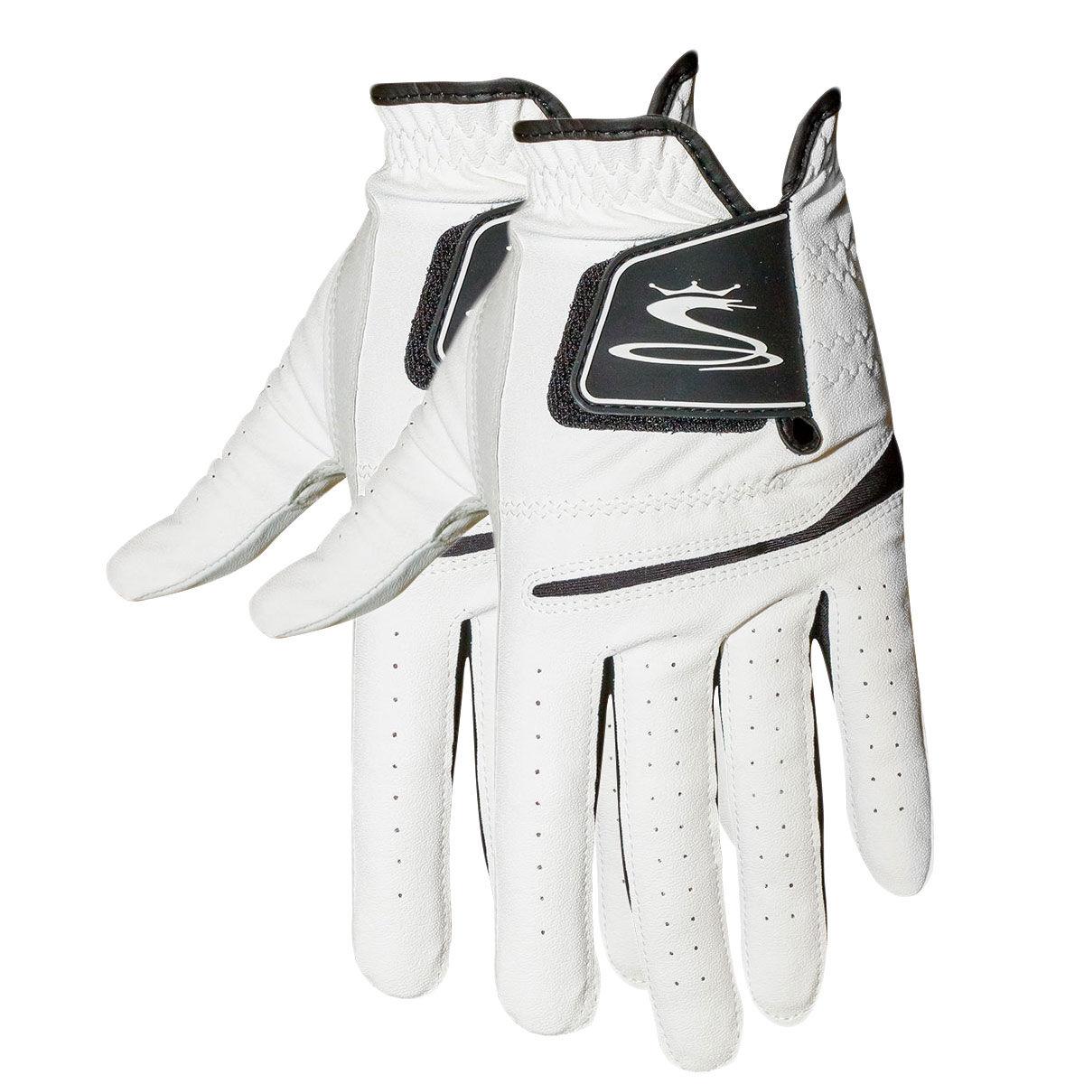 Cobra Golf Flex Cell Golf Glove Twin Pack, Mens, Left hand, Large, White   American Golf