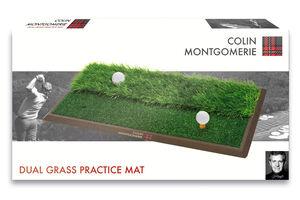 Colin Montgomerie Dual Practice Mat Realistic grass design