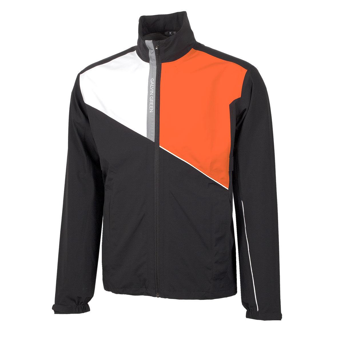 Galvin Green Apollo Golf Jacket, Mens, Black/white/red orange, Small   American Golf