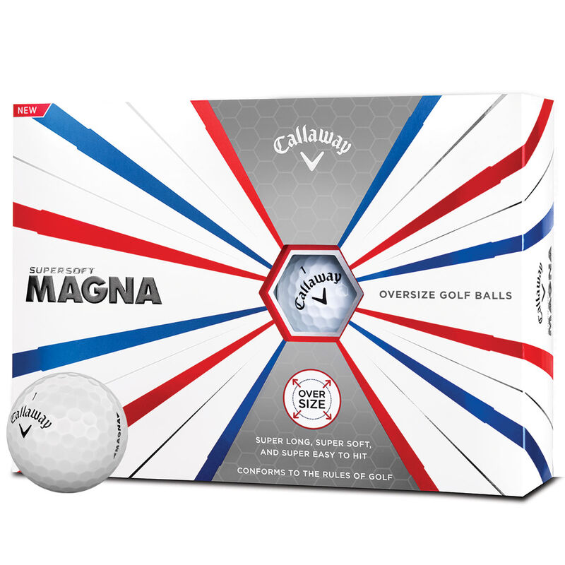 Callaway Golf Supersoft Magna 12 Ball Pack Male White