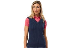 Palm Grove Cable Knit Ladies Vest