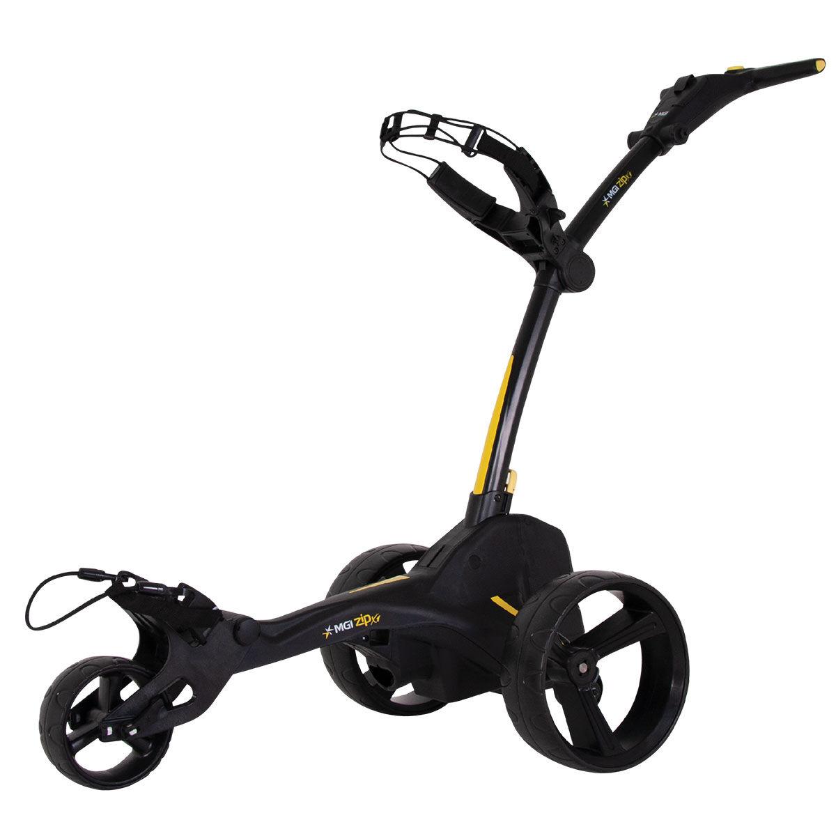 """MGI Golf Black Zip X1 Lithium Electric Golf Trolley, Size: 27.55x18.5x16.5""""   American Golf   American Golf"""
