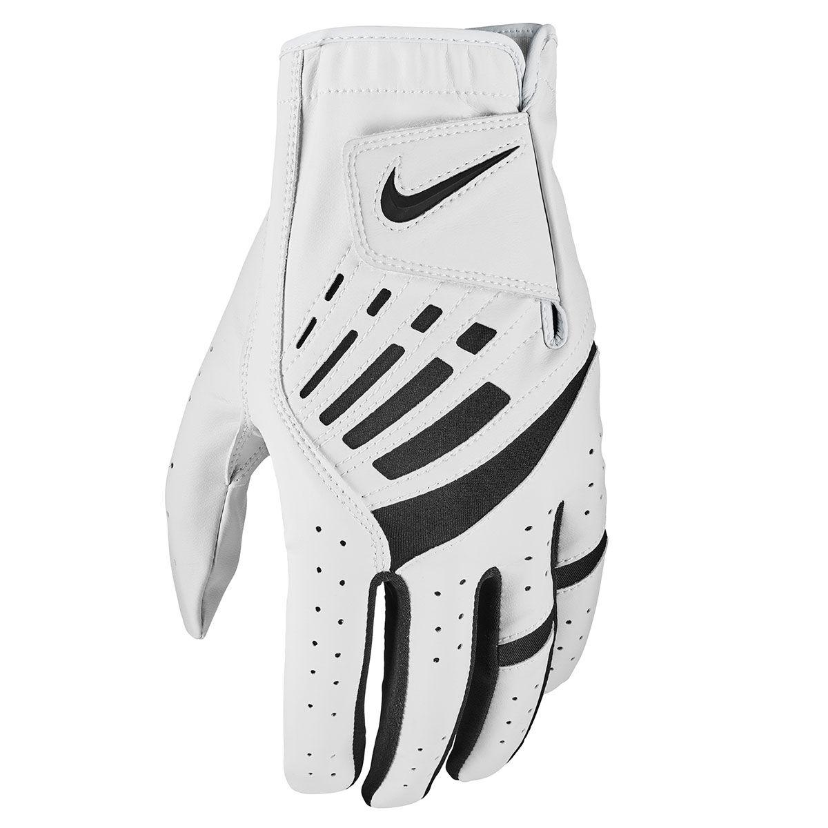 Nike Golf Dura Feel IX Golf Glove, Mens, Left hand, Large, Pearl white/black   American Golf