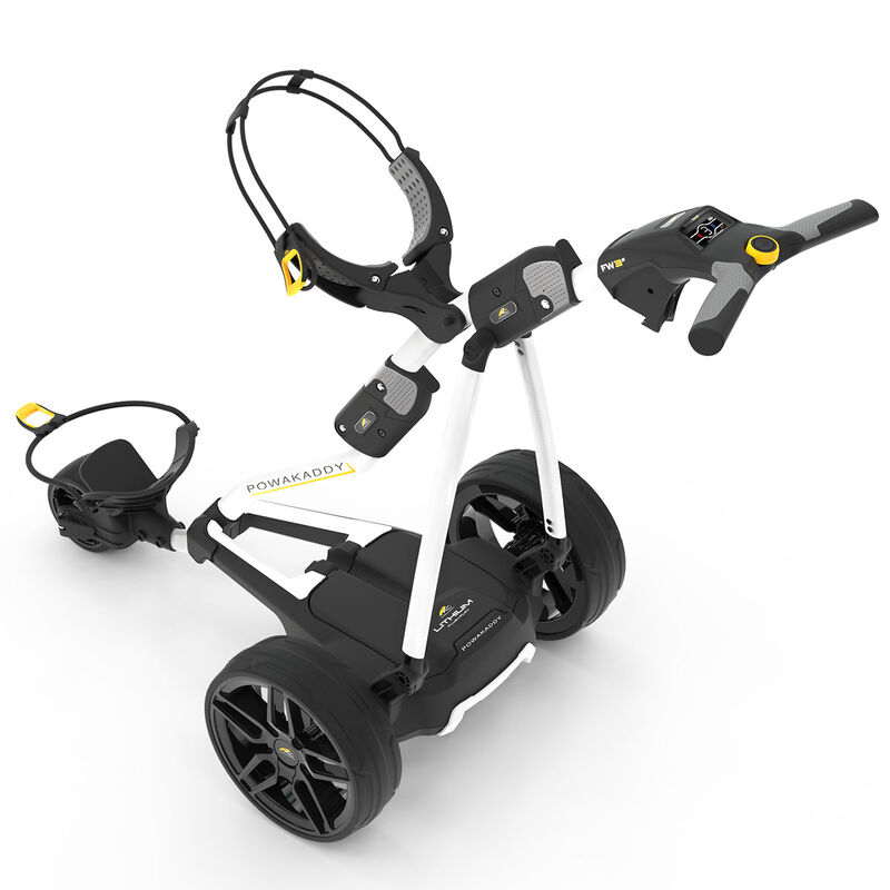 PowaKaddy FW3s 18 Hole Lithium Trolley 2019 Male 18 HOLE White