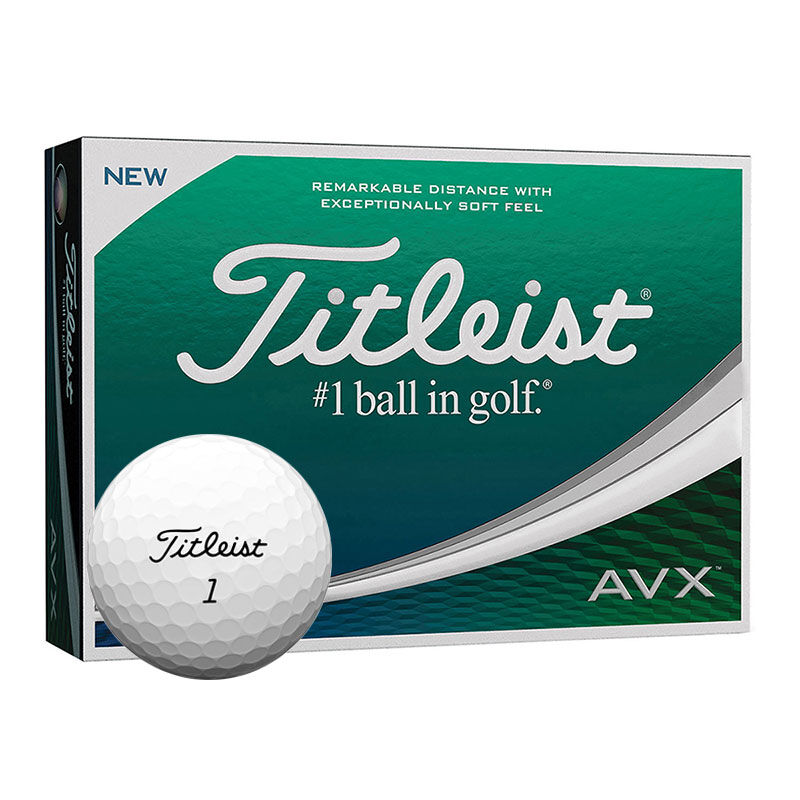Titleist AVX 12 Golf Ball Pack Male White
