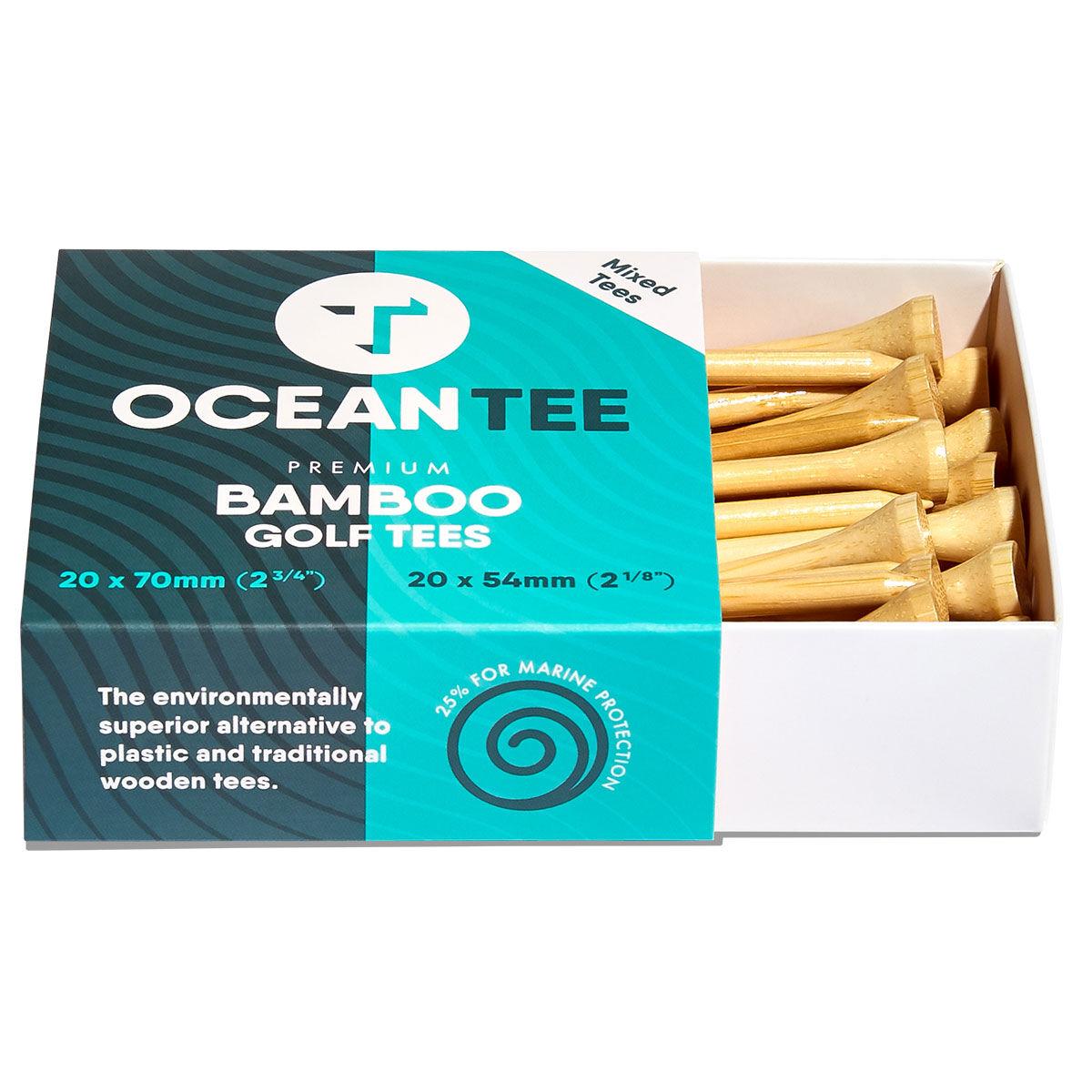 Ocean Tee Brown 54mm & 70mm Pack of 40 Bamboo Tees, One Size | American Golf