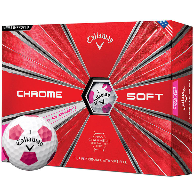 Callaway Golf Chrome Soft Truvis 12 Ball Pack Male WhitePink