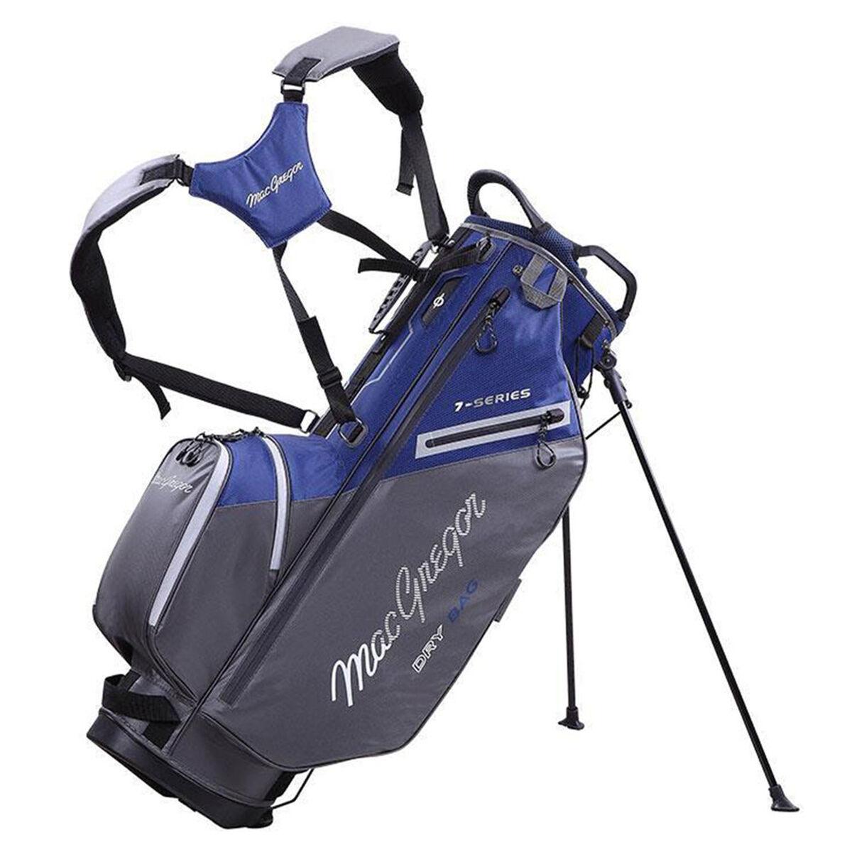 MacGregor 7-Series Water-Resistant Golf Stand Bag, Navy/grey   American Golf