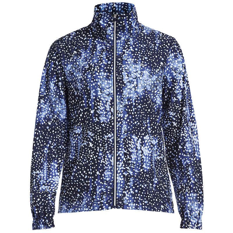 Röhnisch Pocket Ladies Wind Jacket Female Navy Dot Medium