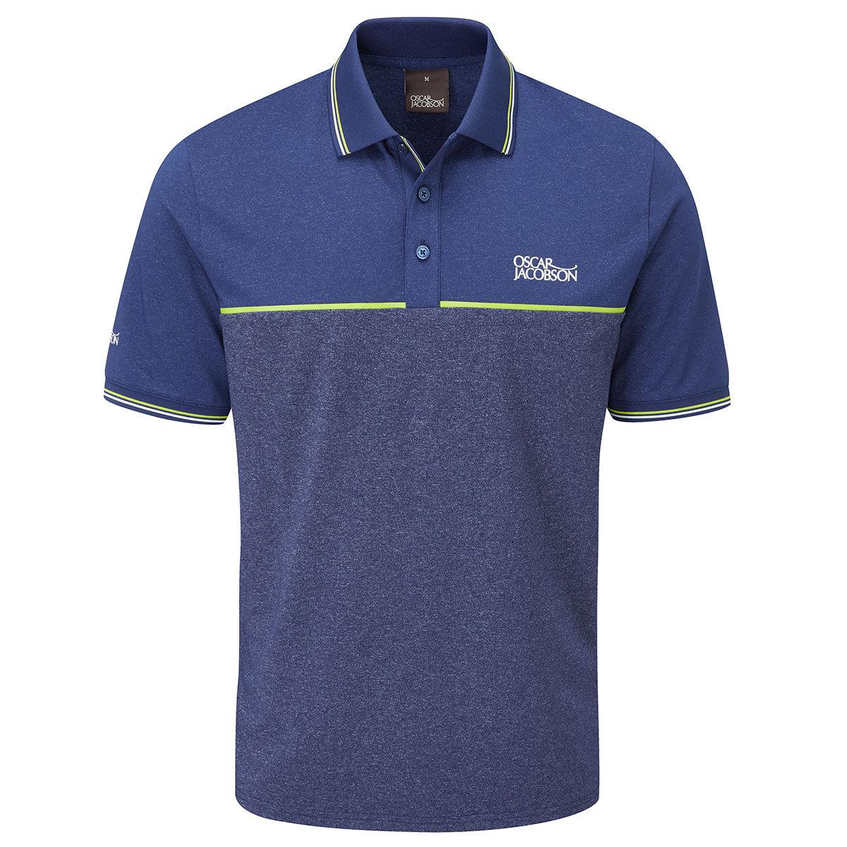 Oscar Jacobson Belford Golf Polo Shirt, Mens, Small, Navy marl | American Golf