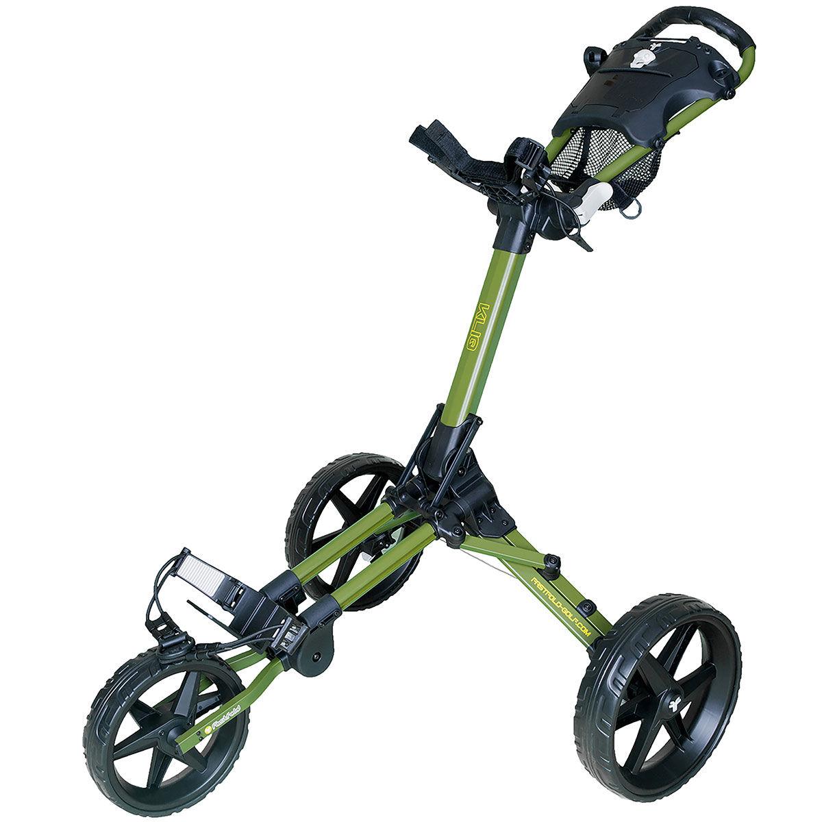 Fast Fold Kliq 3 Wheel Push Golf Trolley, Green/black, One Size | American Golf